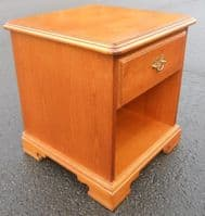 Cherry Wood Bedside Cabinet by Younger